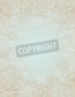 Fototapeta Beżowym tle z różami, ilustracja