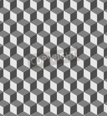 Fototapeta Bezproblemowa geometryczny wzór głośności. Moda grafiki tła. złudzenie optyczne kształty 3D Cube. Nowoczesne stylowe tekstury dla wydruków, tekstylia, opakowania, tapety, strony, blogi itp VECTOR