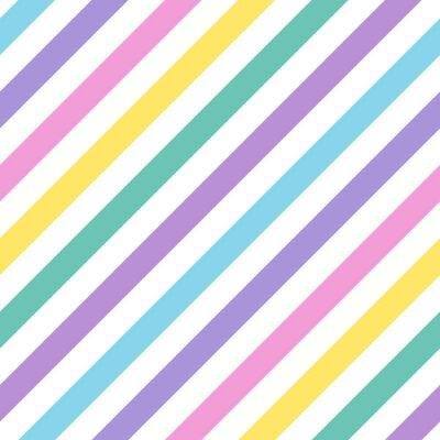 Fototapeta Bezproblemowa geometryczny wzór w paski wielokolorowe przekątnej