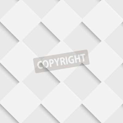 Fototapeta Bezszwowe kwadratowy wzór. Wektor Miękkie Tło. Zwykła Biała Tekstura