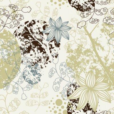Fototapeta bezszwowe tle kwiatów