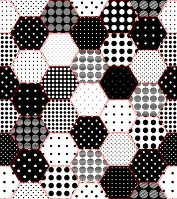 Fototapeta Bezszwowe tło wzór. Geometryczny wzór patchwork z sześciokątów.
