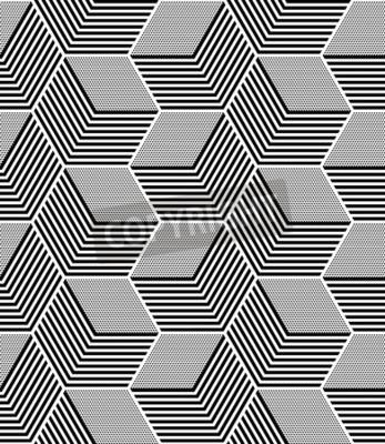 Fototapeta Bezszwowe wzór sztuki op. Geometryczne sześciokątne i diamentowe tekstury.