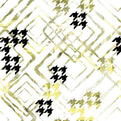 Fototapeta Bezszwowy abstrakcjonistyczny geometryczny wzór z akwarela skutkiem. Stylowy wzór na tekstylia, torby, projektowanie opakowań.