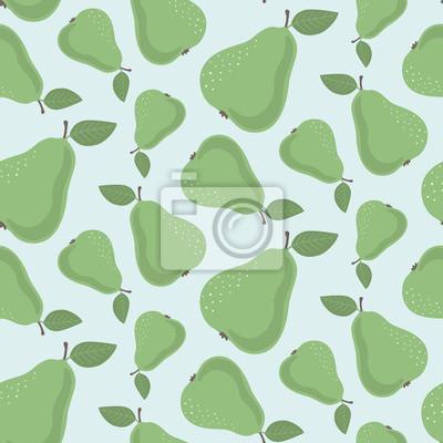 Bezszwowy wzór z zielonymi bonkretami na błękitnym tle. Wektorowy druk dla tkaniny, opakowania, tkanina, tapeta.