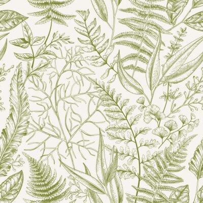 Bezszwowych deseniu z liśćmi.
