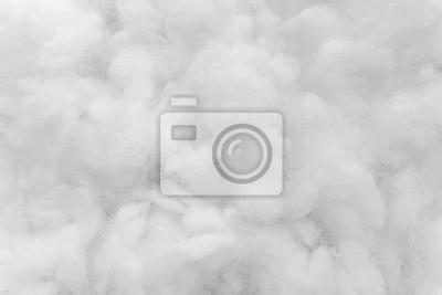 Fototapeta Biała bawełniana tekstura jest miękkim, puszystym tłem waty
