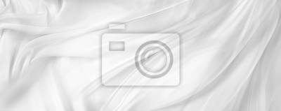 Fototapeta Biała jedwabna tkanina