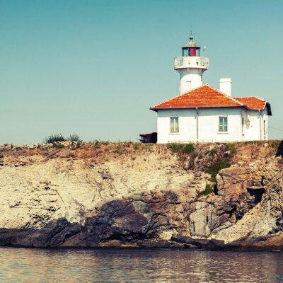 Fototapeta Biała Wieża latarni na wyspie św Anastasia