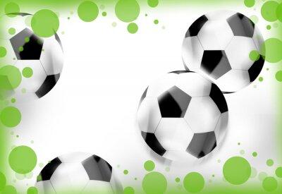 Fototapeta białe piłki nożnej trawy zielone kropki