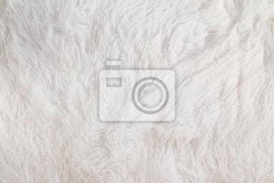 Fototapeta Białe, puszyste zbliżenie materiału.