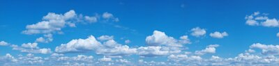 Fototapeta Białe sterty chmury na niebieskim niebie.
