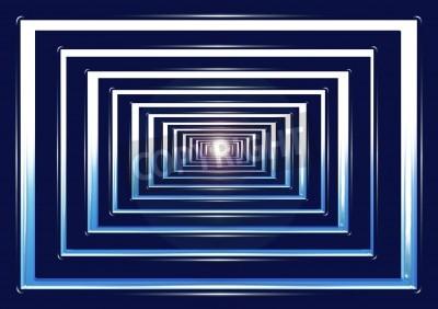 Fototapeta Białe światło w tunelu końcowego. Geometria abstrakcji.