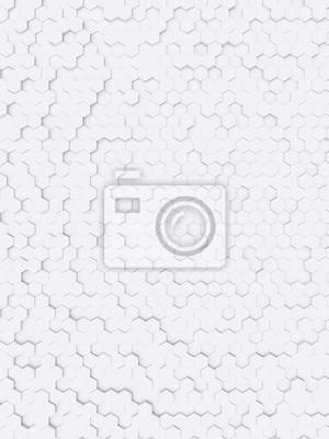 Fototapeta białe tło sześciokątne