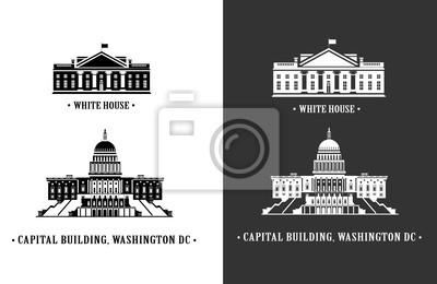 Biały Dom i Capitol budynku w Waszyngtonie