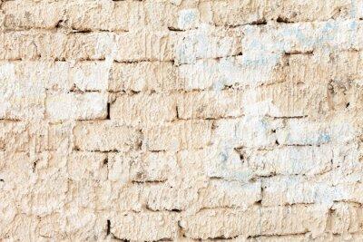 Fototapeta biały mur z cegły