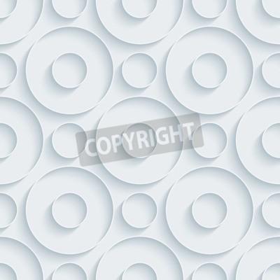 Fototapeta Biały papier ze skutkiem Zarys wyciągnięcia. Streszczenie 3d bez szwu tła.