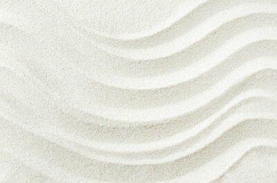 Fototapeta Biały piasek tekstury tła z fali wzór
