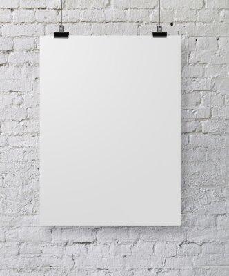 Fototapeta biały plakat