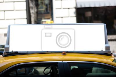 Fototapeta Biały puste billboard na taksówki.