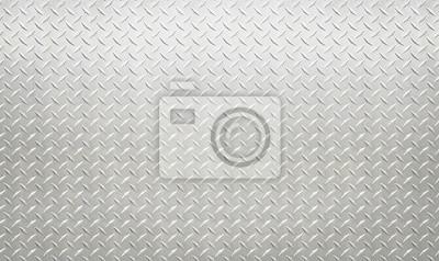 Fototapeta Biały srebny przemysłowy ścienny diamentowy stal wzoru tło