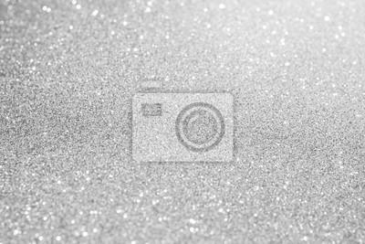 Fototapeta biały srebrny brokat bokeh tekstury abstrakcyjne tło Boże Narodzenie