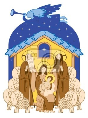 biblijne sceny Bożego Narodzenia