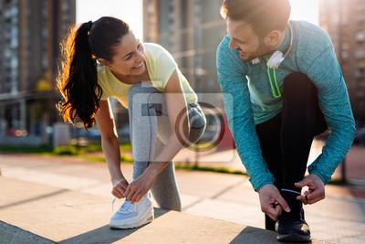 Fototapeta Bieganie i bieganie to ćwiczenia fitness