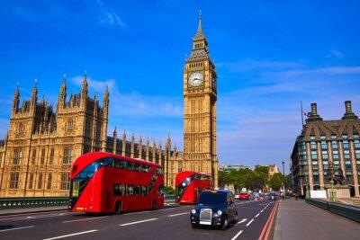 Fototapeta Big Ben Clock Tower i London Bus