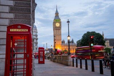 Fototapeta Big Ben i BenBig Westminster Abbey w Londynie