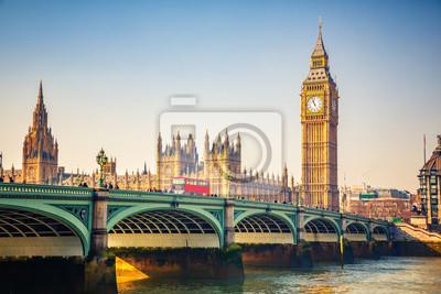 Fototapeta Big Ben i Westminster Bridge w Londynie