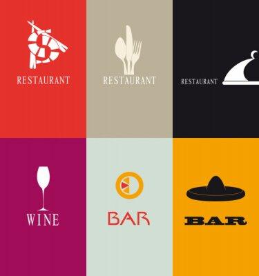 Fototapeta Biglietti da visita za ristorante e bar