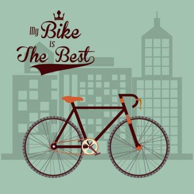 Fototapeta Bike lifestyle design