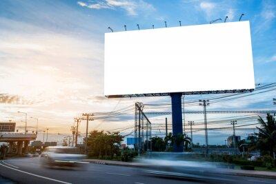 Fototapeta billboard blank for outdoor advertising poster or blank billboard for advertisement.