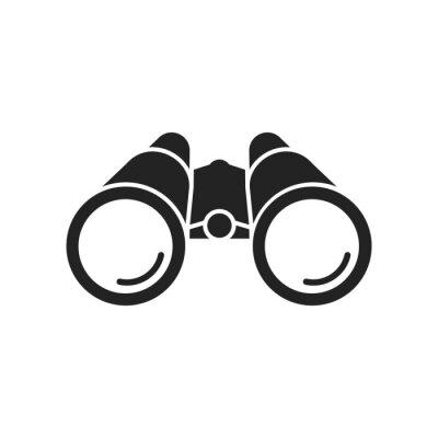 Fototapeta Binoculars flat icon. Vector. Isolated.