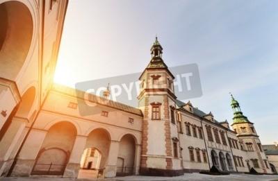 Fototapeta Biskupi Pałac w Kielcach podczas zachodu słońca.