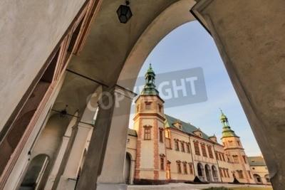 Fototapeta Biskupi Pałac w Kielcach w świetle słońca.