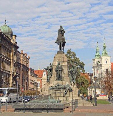Fototapeta Bitwa pod Grunwaldem pomnik w Krakowie