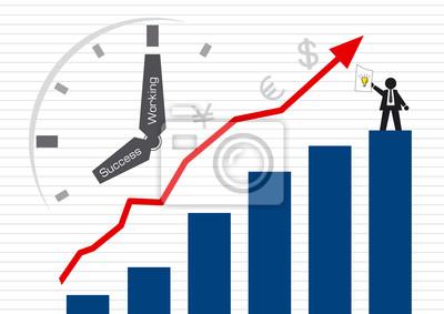 Biznesmen i Graph