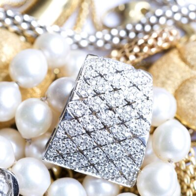 Fototapeta Biżuteria złota