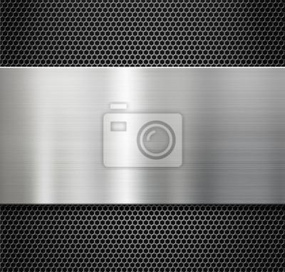 Fototapeta blacha stalowa na ruszt tle grzebień