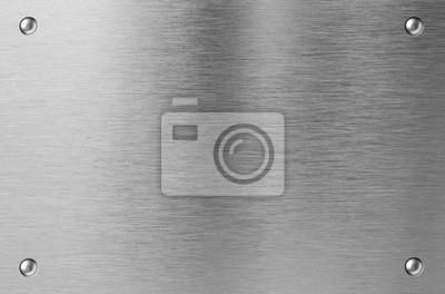 Fototapeta blachy ze stali nierdzewnej z nitami