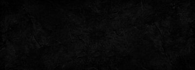 Fototapeta Black abstract background. Dark rock texture. Black stone background with copy space for design. Web banner.