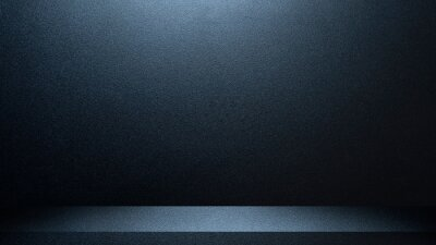Fototapeta Black and blue abstract cement wall and studio room , interior texture for display products. wall background.