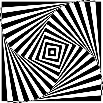 Fototapeta Black and White Optical Illusion ilustracji wektorowych.