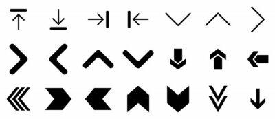 Fototapeta black arrow icon set