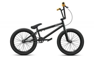 Fototapeta Black BMX bicycle mockup - right side view