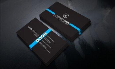Fototapeta Black color Modern Business Card