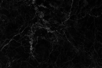 Fototapeta Black gray marble texture background with high resolution, counter top view of natural tiles stone in seamless glitter pattern and luxurious.