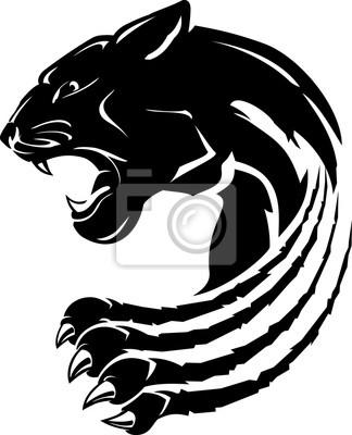 Fototapeta Black Panther Abstract